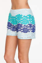 Everly Blue Lace Shorts