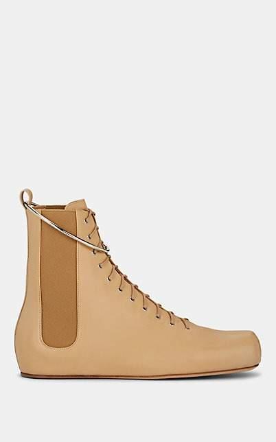 Jil Sander Women's Leather Ankle Boots - Nudeflesh