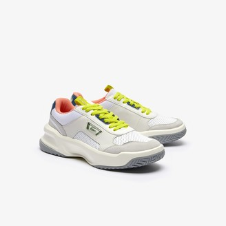 Lacoste Men's Ace Lift Colourblock Leather Reflective Trainers