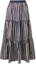 P.A.R.O.S.H. striped tier skirt