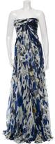 Saint Laurent Silk Pleated Gown