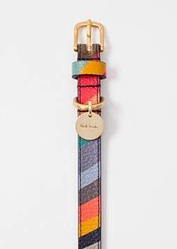 'Swirl' Print Calf Leather Dog Collar