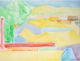 """Serena & Lily """"Rooftops and Hills in Abstraction"""" by Jack Freeman"""