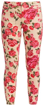 L'Agence Margot High-Rise Ankle Skinny Rose-Print Jeans