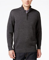 Tricots St. Raphael Men's Quarter-Zip Mock-Collar Sweater
