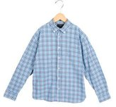 Oscar de la Renta Boys' Gingham Button-Up Shirt
