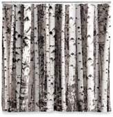 Kikkerland Design Birch Shower Curtain