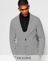 Reclaimed Vintage Skinny Suit Jacket In Dogtooth