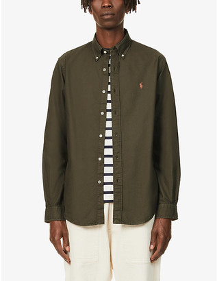 Polo Ralph Lauren Logo-embroidered garment-dyed cotton Oxford shirt