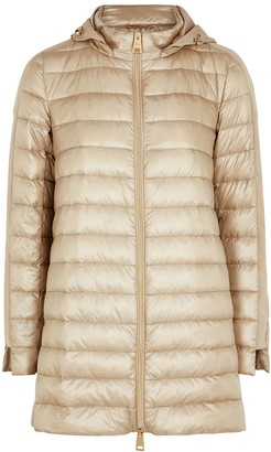 Herno Gold quilted shell jacket