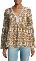 Lucca Couture Women's Kate Floral Print Blouse