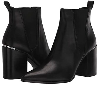 Steve Madden Knoxi Bootie (Black Leather) Women's Boots