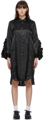 Comme des Garçons Comme des Garçons Black Ruffle Shirt Dress
