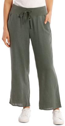 Regatta Rib Waist Wide Leg Cropped Pant