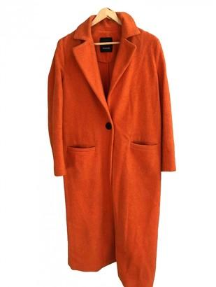 Pinko Orange Wool Coat for Women