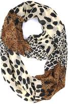 Tapp Collections Tapp C. Fashion Leopard Print Infinity Scarf - Black/Brown