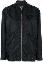 Maison Margiela pleated hem bomber jacket - women - Polyamide/Polyester/Viscose - 36