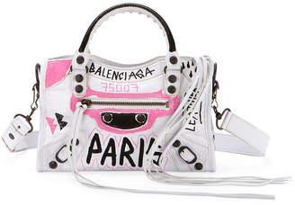 Balenciaga Classic City Mini Graffiti Satchel Bag
