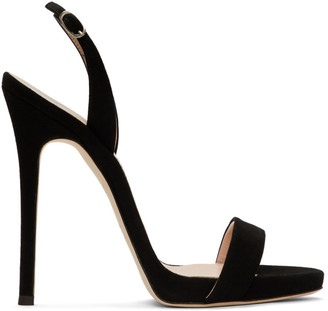 Giuseppe Zanotti Black Suede Sophie Sandals