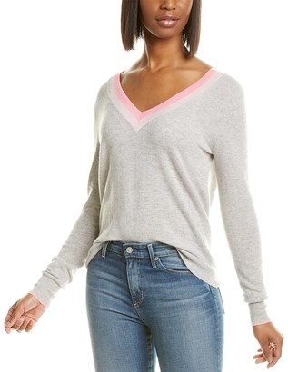 Autumn Cashmere Striped Tie-Back Cashmere Sweater