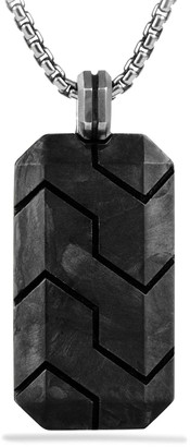 David Yurman Men's Forged Carbon Tag Enhancer