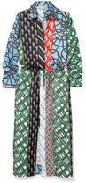 Carven Layered Printed Silk-twill Dress