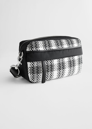 And other stories Braided Nylon Crossbody Bag