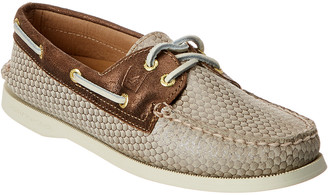 Sperry A/O Fishscale Leather Boat Shoe