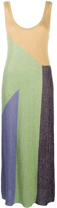 M Missoni Knitted Colour-Block Maxi Dress