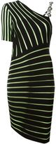Fausto Puglisi asymmetric striped dress - women - Polyester/Viscose - 42