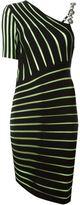 Fausto Puglisi asymmetric striped dress