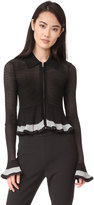 McQ by Alexander McQueen Alexander McQueen Ribbed Striped Cardigan