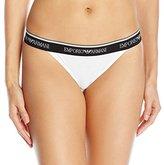 Emporio Armani Women's Iconic Logo Cotton Thong