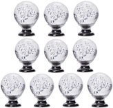 IFOLAINA Pack of 10 Bubbles Ball Crystal Glass Cabinet Knob Cupboard Drawer Pull Handle 30mm