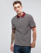 Lyle & Scott Stripe Logo Polo Shirt Burgundy