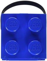 Lego Lunch Box W. Handle (4 Knob) - Classic, Bright Blue