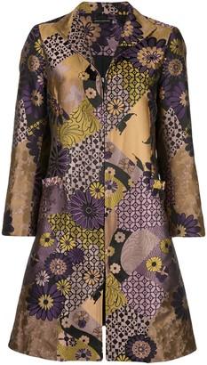Josie Natori Jacquard Mandarin Coat