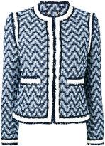 Tory Burch Justin tweed jacket - women - Cotton - 4