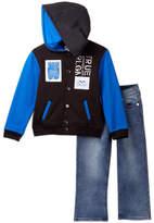 True Religion Punk Hooded Jacket & Jeans Set (Toddler Boys)