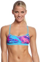 Nike Women's Tropic Crossback Sports Bra Swimsuit Top 8150562