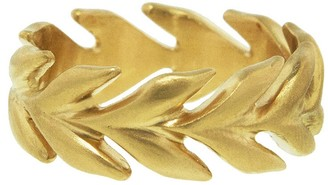 Cathy Waterman Wheat Band Ring - Yellow Gold