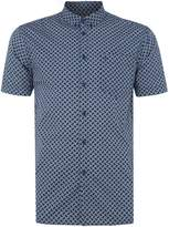 Merc Men's Avery retro geo print short sleeve shirt