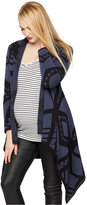 A Pea in the Pod Blank Maternity Printed Open-Front Cardigan