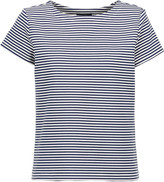 Theory Laveneg striped cotton-blend T-shirt