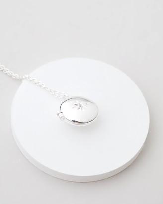 Estella Bartlett Round CZ Locket Necklace