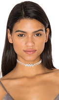 Fallon Monarch Mini Velvet Choker in Pink.