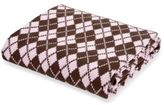 Elegant Baby Argyle Blanket in Pink/Chocolate