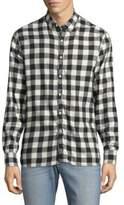 Joe's Jeans Piper Checkered Cotton Button-Down Shirt