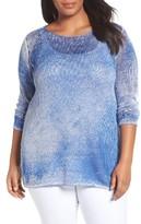 Nic+Zoe Plus Size Women's Poolside Linen Blend Pullover