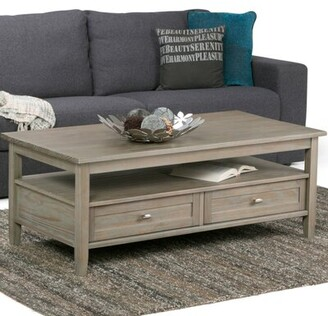 Alcott Hillâ® Alameda Solid Wood Coffee Table with Storage Alcott HillA Color: Tobacco Brown